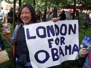 Obama in England