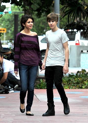 Justin Bieber mit Selena Gomez